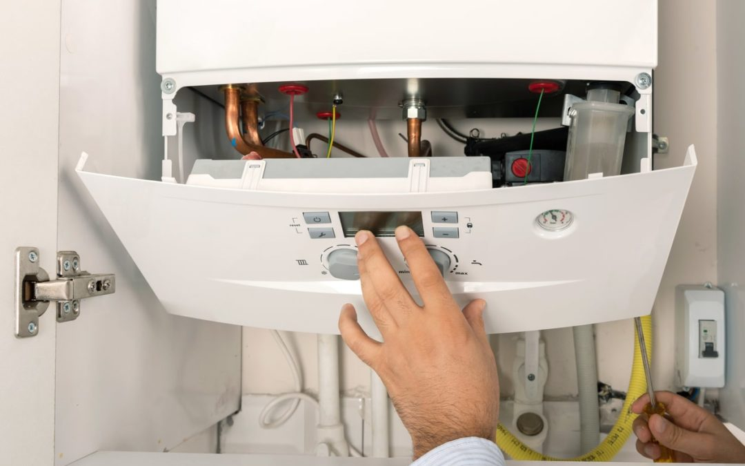 What does a flashing green light on furnace mean?